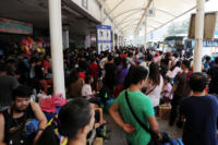 Passengers stranded at ports as Typhoon Nina approaches on Christmas Day