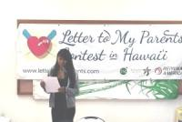 Young winners named in Hawaii 'Letter to My Parents' contest
